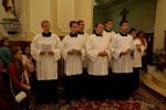 Bohoslovci Nitrianskej diecézy vo farnosti Veľký Kýr