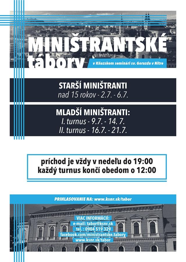 Miništranské tábory 2017